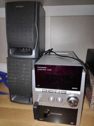 Cadena de musica Panasonic + Altavoces + Bluetooth