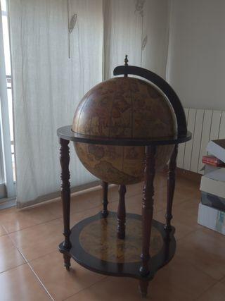 Mueble bar botellero bola del mundo