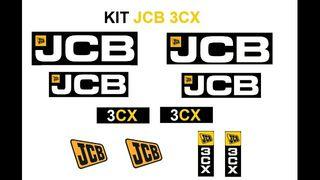 KIT PEGATINAS JCB 3CX (ENVÍO GRATIS)