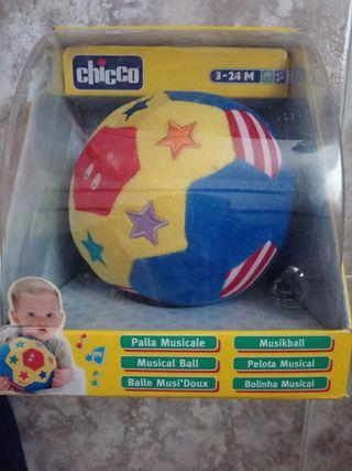 Juguete pelota marca Chico, musical blandita.