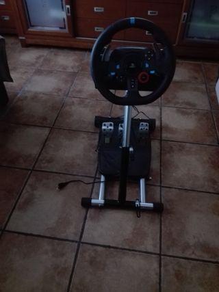 volante para ps4 logitech 29g con soporte y juego