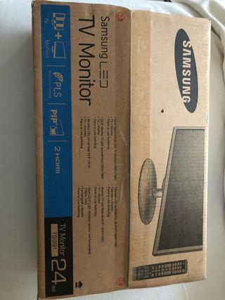 Vendo televisor y monitor 24 nuevo