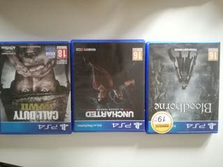 Call of Duty WWII , Bloodborne , Uncharted