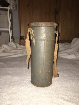 Original WW2 French gas mask with name!