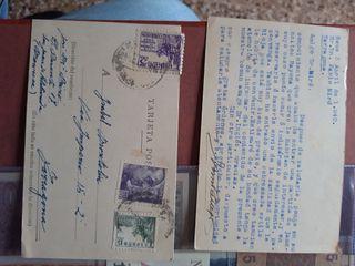 tarjetas postales de 1940