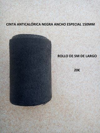 cinta anticalorica negra 5m ancho especial 150mm