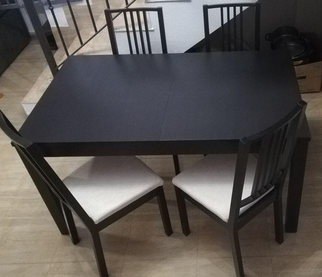 Mesa Y 4 Sillas Bjursta Ikea De Segunda Mano Por 120 En Alovera En