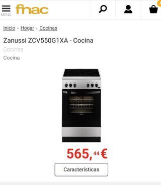 Encimera y Horno Zanussi ZCV550G1XA - cod23033