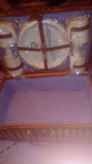 cesta de mimbre