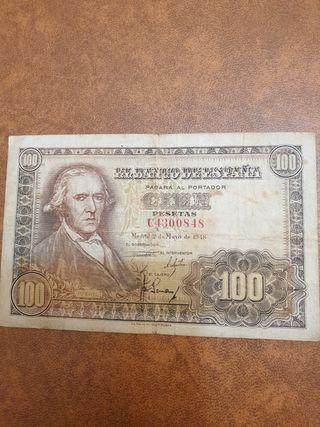 billete 100 pesetas de 1948