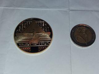 moneda conmemorativa egipto