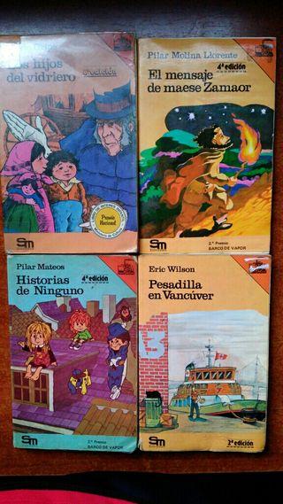 Libros El Barco de Vapor antiguos. Serie naranja