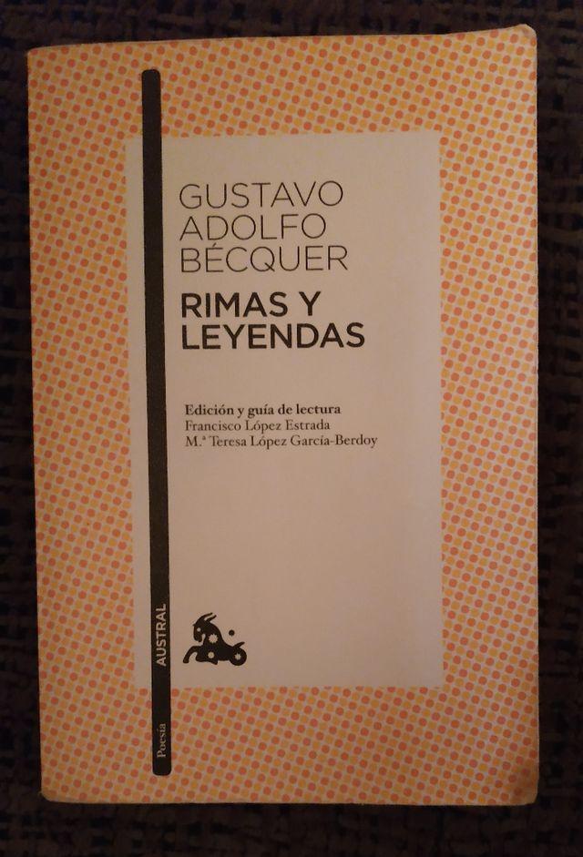 Libro Rimas Y Leyendas Gustavo Adolfo Bécquer De Segunda Mano