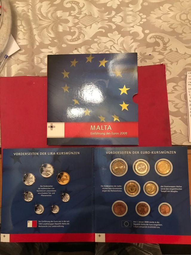 Cartera oficial Malta 2008 también con sellos