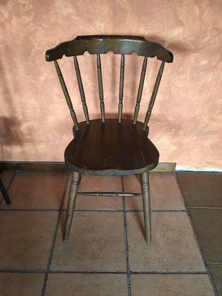 Sillas de escritorio antiguas de segunda mano en wallapop for Sillas vintage segunda mano