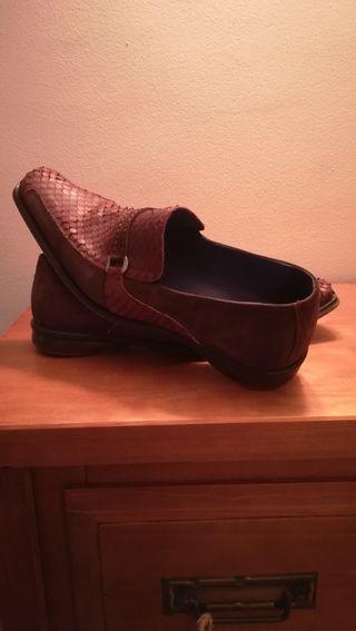 Talla 43 Zapatos Cocodrilo Y Ante d Piel Hombre v1zwqT