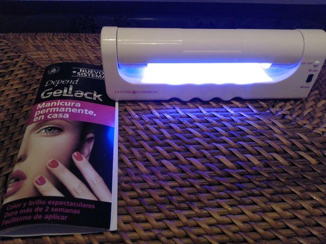 Lampara para manicura permanente Gellack
