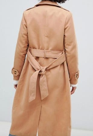 Missguided trench coat in camel NEW 38 Size