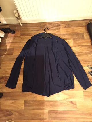 Size 10 Navy Blue Blouse