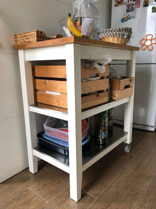 Mesa auxiliar de cocina Stenstorp Ikea de segunda mano por 109 € en ...