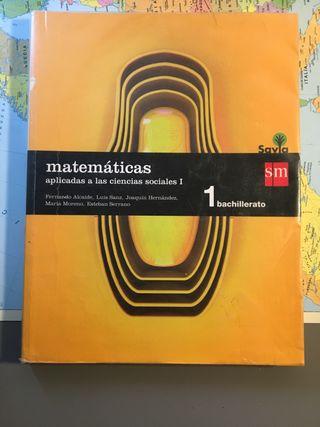 Libro matemáticas aplicadas 1 BACH