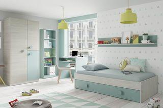 Dormitorio juvenil completo nuevo. Envíos gratis.
