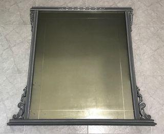 Espejo antiguo restaurado gris aprox 1m2