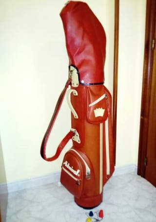 Bolsa palos de golf vintage.