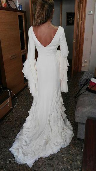 vestido de novia talla 44 de segunda mano en albacete en wallapop