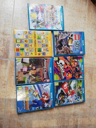 lote de 7 juegos Wii U