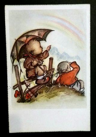 Antigua tarjeta postal años 50