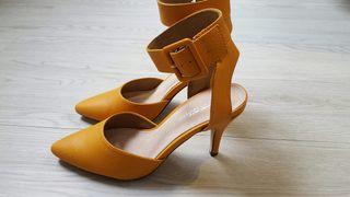 Zapatos tacón con amarillos Zapatos amarillos UrwgrPqX