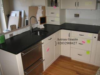 Buy Absolute Black Honed Granite Kitchen Worktop