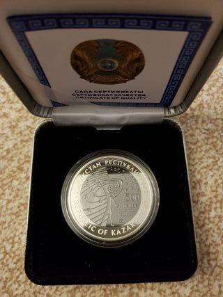 moneda Kazajstán 500 tenge 2012 estación por plata