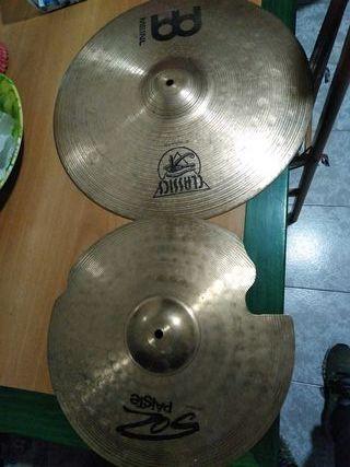 2 vintage platos de percusión meinl y paiste