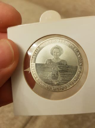 moneda 5 euros plata Holanda 2010 waterland