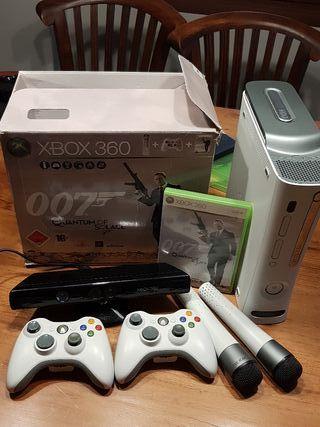 Xbox 360. Con los 2 juegos de las fotos.