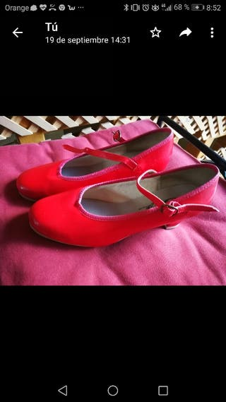 zapatos tap_claque 37 rojos y negros