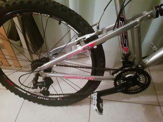 Bicicleta de montaña, freno de disco, shimano.