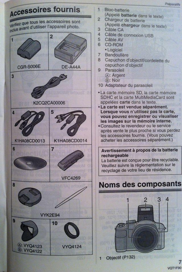 Panasonic - Lumix DMC-FZ18 Noir zoom x18