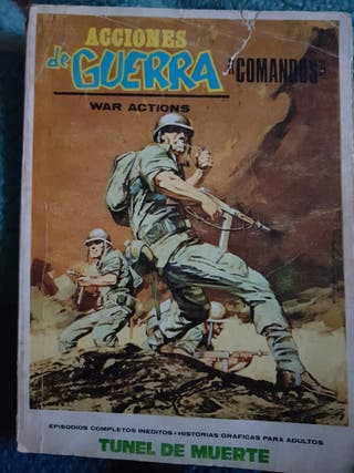 cómics acciones de guerra comandos.