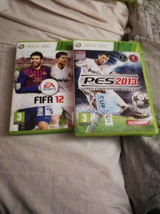 Pes 2013 y FIFA 12 XBOX 360