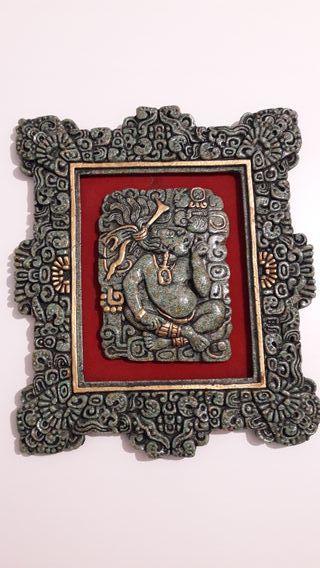 Cuadro Azteca de Bronce