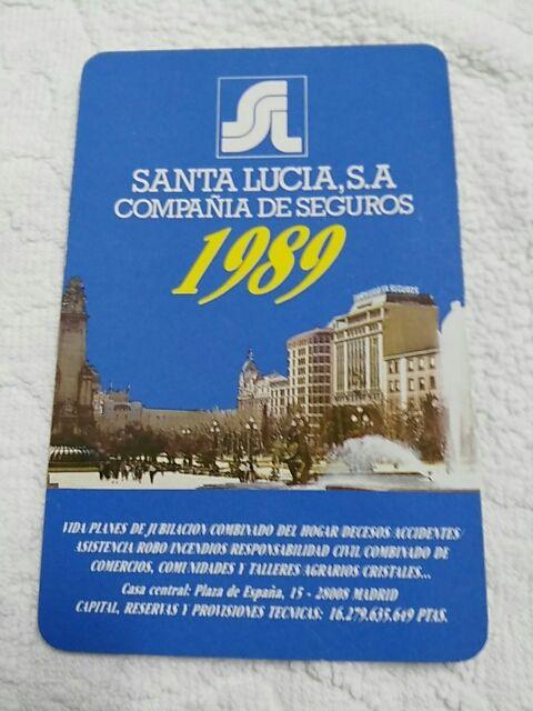 Santa Lucia Calendario.Calendario Fournier Santa Lucia Ano 1989 De Segunda Mano Por