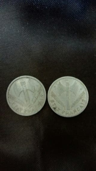 Moneda de 1 franc de 1942
