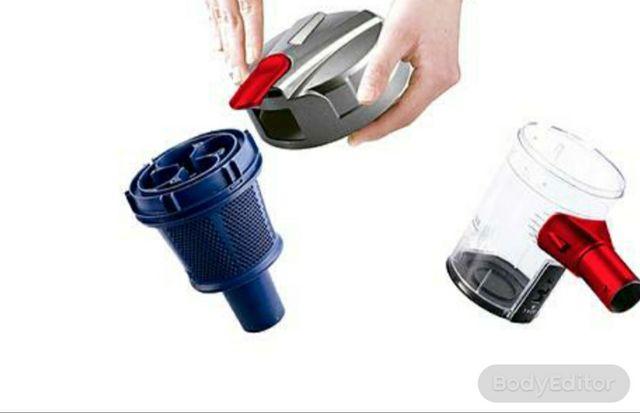 Aspirador ciclónico 2 en 1. Muy ligero y manejable