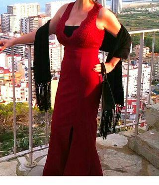 vestido rojo talla 38