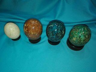4 huevos de alabastro