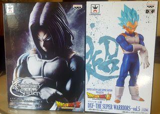 pack figuras Trunks & Vegeta blue agarre guante