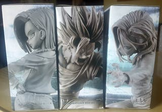 Lote 3 figuras Scultures 6 androide 18 & Goku Ssj